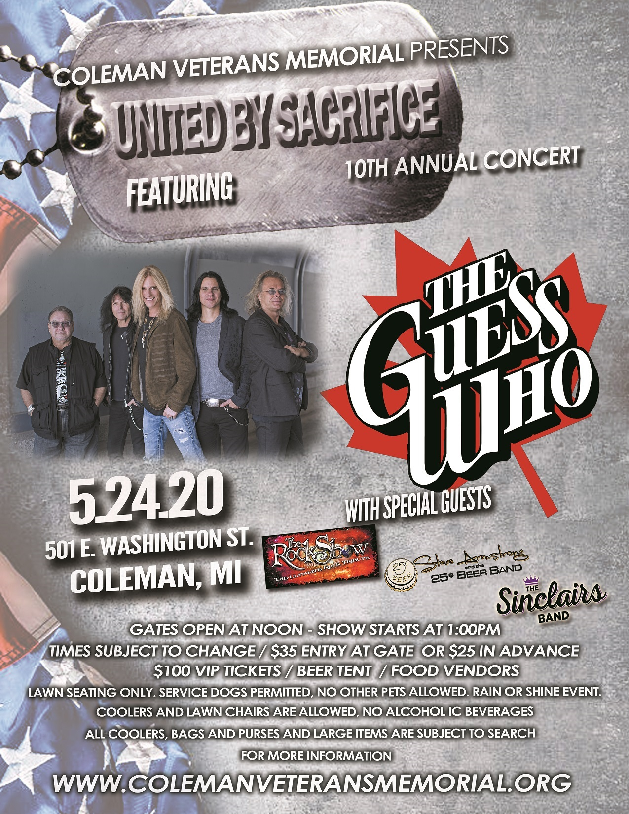 "2018 Annual ""United by Sacrifice"" Concert Tickets"